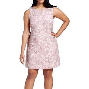Victoria Beckham Blush Paisley Shift Dress